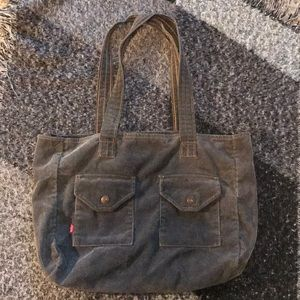 90's Levi's Grey Corduroy Bag by Yak Pak